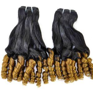 Brazilian Virgin Fumi Curly Professional Ombre Human Hair Extension