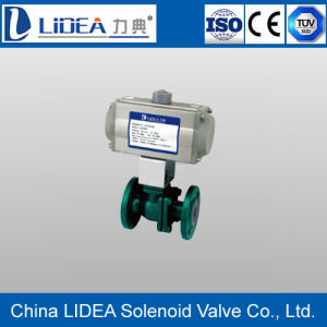 Factory Price Flange Pneumatic Fluorine Floating Ball Valve with Ce Cetificate