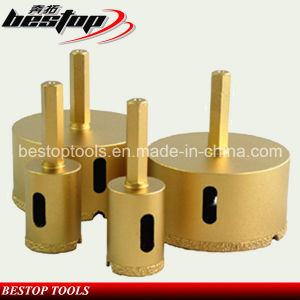D20mm-D75mm Vacuum Brazed Diamond Core Bits for Ceramic Tiles pictures & photos