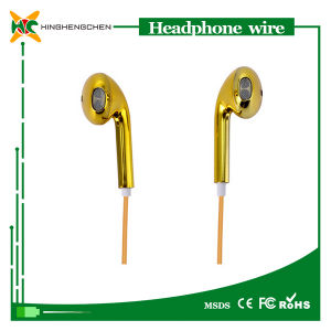 Brand Name Headphone Luxury Gold Color Headphones Earphone for iPhone 5 5s 5c 6 6 Plus Stereo Headset pictures & photos