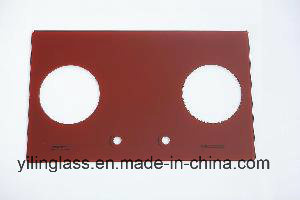 Color Fritted Tempered Gas Burner Glass pictures & photos