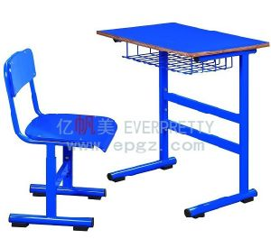 New Design High School Student Fixe Single Desk & Chair pictures & photos