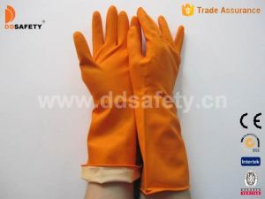 Ddsafety 2017 Orange Latex Household Gloves pictures & photos