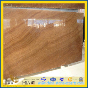 Yellow Imperial Wood Grain Marble Tiles for Floor /Step pictures & photos