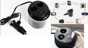 Dual USB Ports Car Cigarette Lighter Socket/DC Adapter Charger Splitter pictures & photos