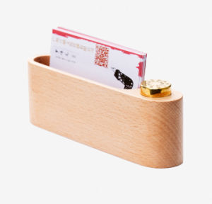Customed Wooden Offical Desk Card Case pictures & photos