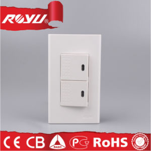 Southeast Market Screwless Design 2*4 Switch with LED Lighit (WD603) pictures & photos