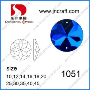 Polished Round Mirror Glass Flat Back Sew on Stones for Coats Deoration pictures & photos