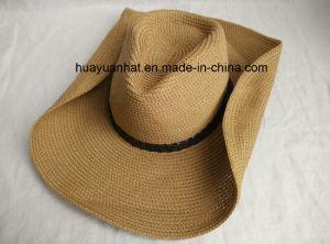 Paper Braid Sewn Braid Cowboy Hat Shapeable Brim Hat pictures & photos