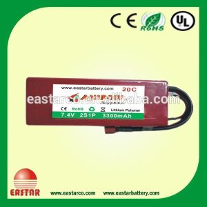 China Hot Export with Factory Price Lipo Battery Pack 3300mAh 7.4V Lithium Polymer Battery pictures & photos