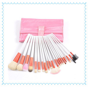 Professional Pink and White Makeup Brush Case Wholesale pictures & photos