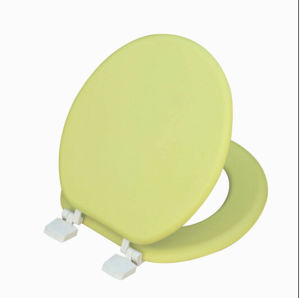 "17""Green Moulded Wood Toilet Seat (1501)"