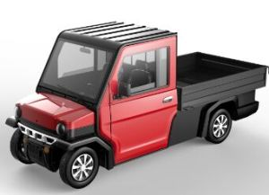 Electric Long Cargo Truck with 2 Seater pictures & photos