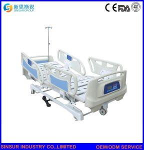 Electric ICU/Nursing Multi-Function with Weight System Medical Equipment Hospital Bed pictures & photos