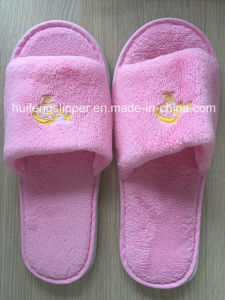 Cotton Velour Hotel Slipper with EVA Sole for Ritz Carlton Hotel Slippers