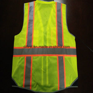 Safety Vest with Relective Caution Band 300d Oxford and Mesh pictures & photos
