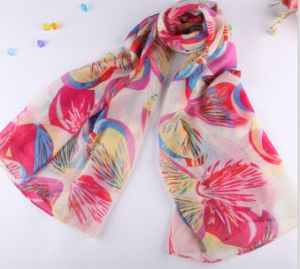 Polyester / Printed / Cheap / Scarf / Voile