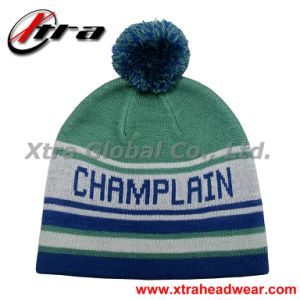 Knitted Cap with Pompon (XT-W018) pictures & photos