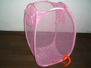 Foldable Mesh Laundry Basket (hbmb-2) pictures & photos