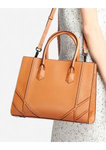 New Designer PU Leisure Bag Stitching Women Handbag pictures & photos