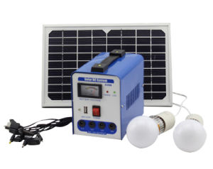 Mini 6W DC Solar Generator / Solar Energy Power System Lighting Kits with Charge for Home Camping pictures & photos