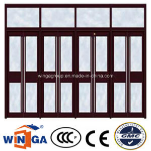 Glass Villa House Security Entrance Steel Glass Door (W-GD-38) pictures & photos