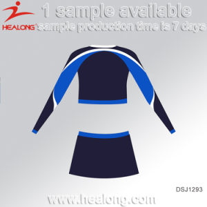 Healong 100% Polyester Fully Dye Sublimated Plus Size Cheerleading Uniform pictures & photos