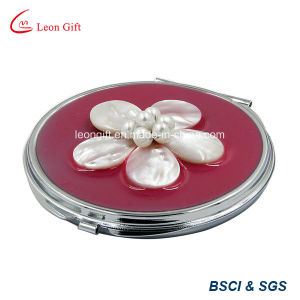 Square Printed Aluminum Compact Mirror for Promotion pictures & photos