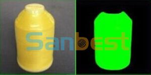 100% Polyester Glow-in-Dark Embroidery Thread for Clothing pictures & photos
