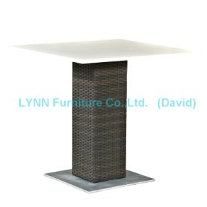 Outdoor Rattan Table Quartz Stone Table Top pictures & photos
