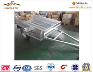 Haylite Hot DIP Galvanized 7X4 Trailer with Cage Single Axle pictures & photos