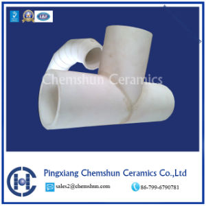 Chemshun Ceramics Alumina Ceramic T-Tube for Lining Pipe Used in Mine pictures & photos