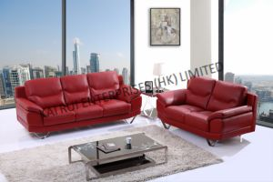 Red PVC Modern Home Furniture Sofa pictures & photos