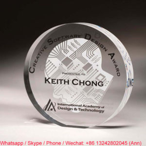 Round Shape Customize Clear Office Gift Crystal Souvenir pictures & photos
