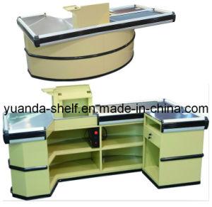 Store Supermarket Automatic Conveyor Belt Cashier Checkout Counter pictures & photos