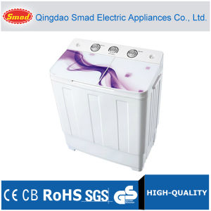 Glass Cover Semi-Automatic Twin Tub Washing Machine pictures & photos