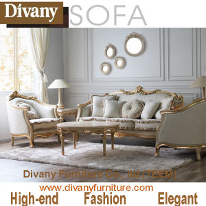 Living Room Classic Solid Wood Fabric Sofa (BA-1103) pictures & photos