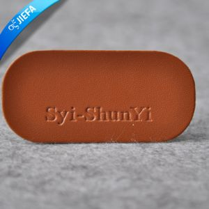 Fashional Real Leather Label for Clothing pictures & photos