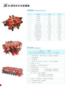 DLY25.3 Hydraulic 3 Spool Control Valve Industrial Types Safety Valve pictures & photos