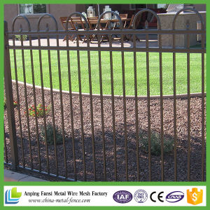 Beautiful Stronger Black Tubular Galvanized Steel Fence pictures & photos
