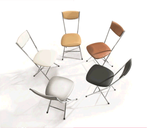 Modern Metal Dining Folding Chair