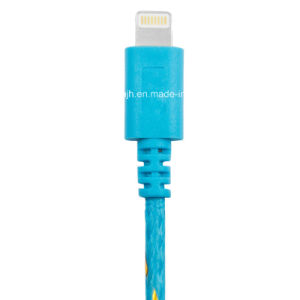 Nylon Warapped USB Data Cable Fibery USB Cable to 8pin for iPhone 5 and iPhone 6 (JH-2348)