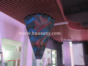 P25mm Soft LED Video Curtain for Christmas Tree Application pictures & photos
