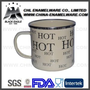 SGS Certified 16oz Custom Enamel Cup with Decal Printing pictures & photos