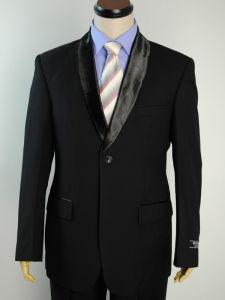 Black Color Round Collar Wedding Suits (156-black#)
