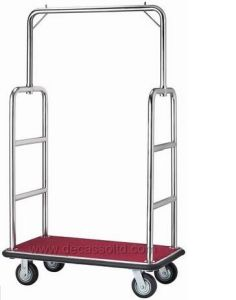 Good Quality Stainless Steel Luggage Cart Df18 pictures & photos