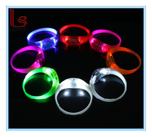 LED Light Silicon Flashing Safety Warning Wrist Bands pictures & photos