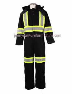 Reflective Coverall 100% Cotton Thermal Workwear Overall Winter Coverall pictures & photos