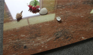 Red Pearl Stone Polished Porcelain Tile pictures & photos