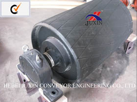Manufacturer Belt Conveyor Head / Tail Pulley with Rubber pictures & photos